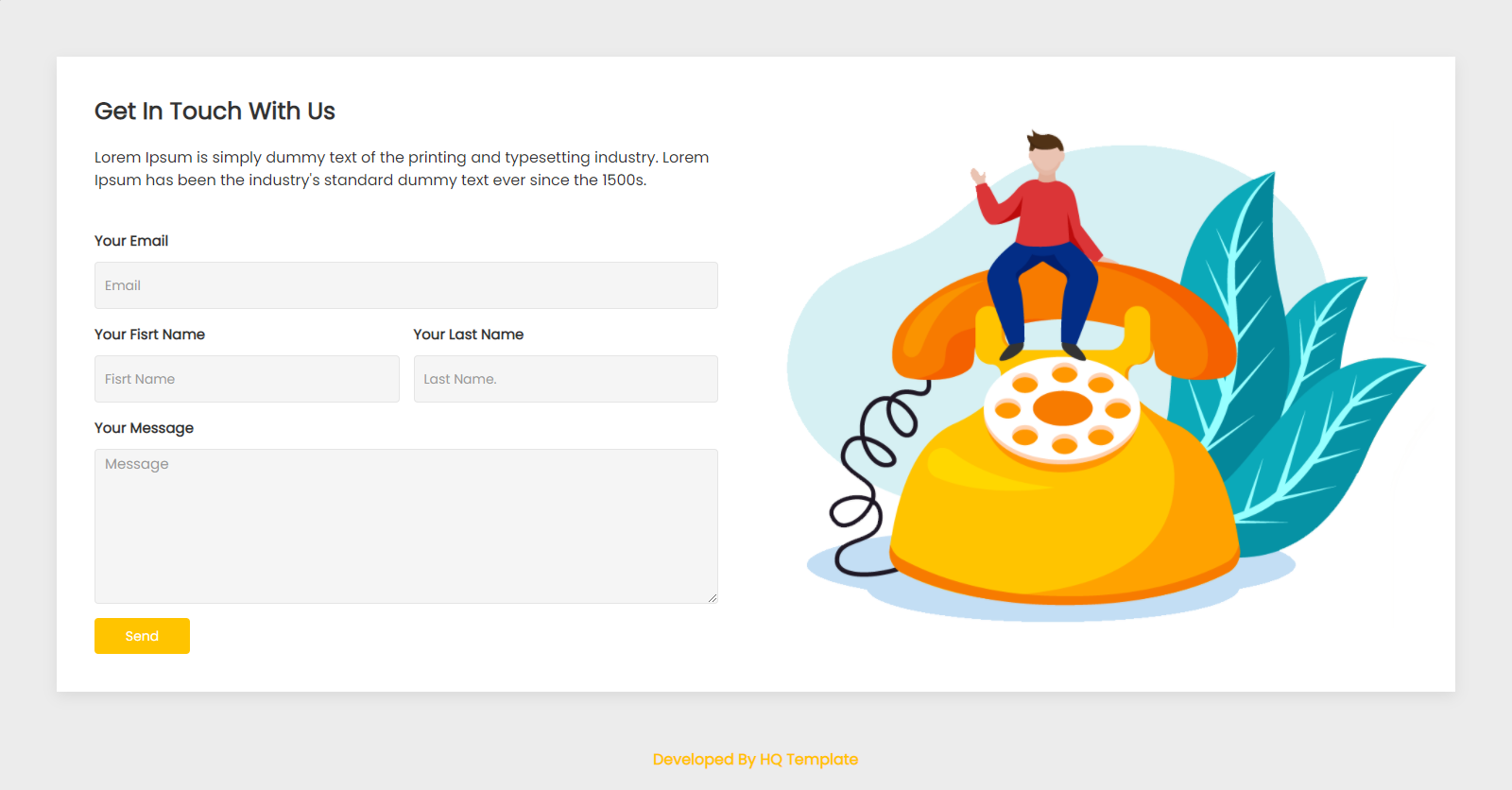 Contact Page HTML Template