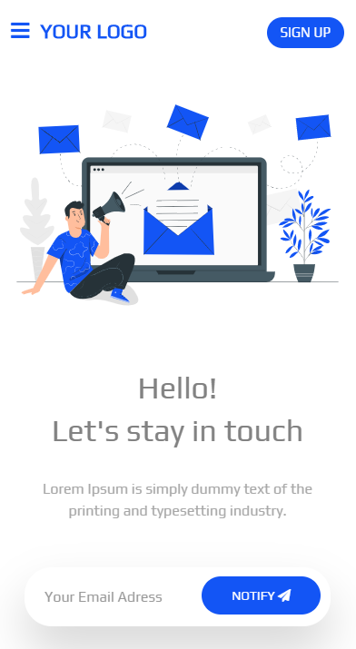 Landing Page HTML Template (blue)