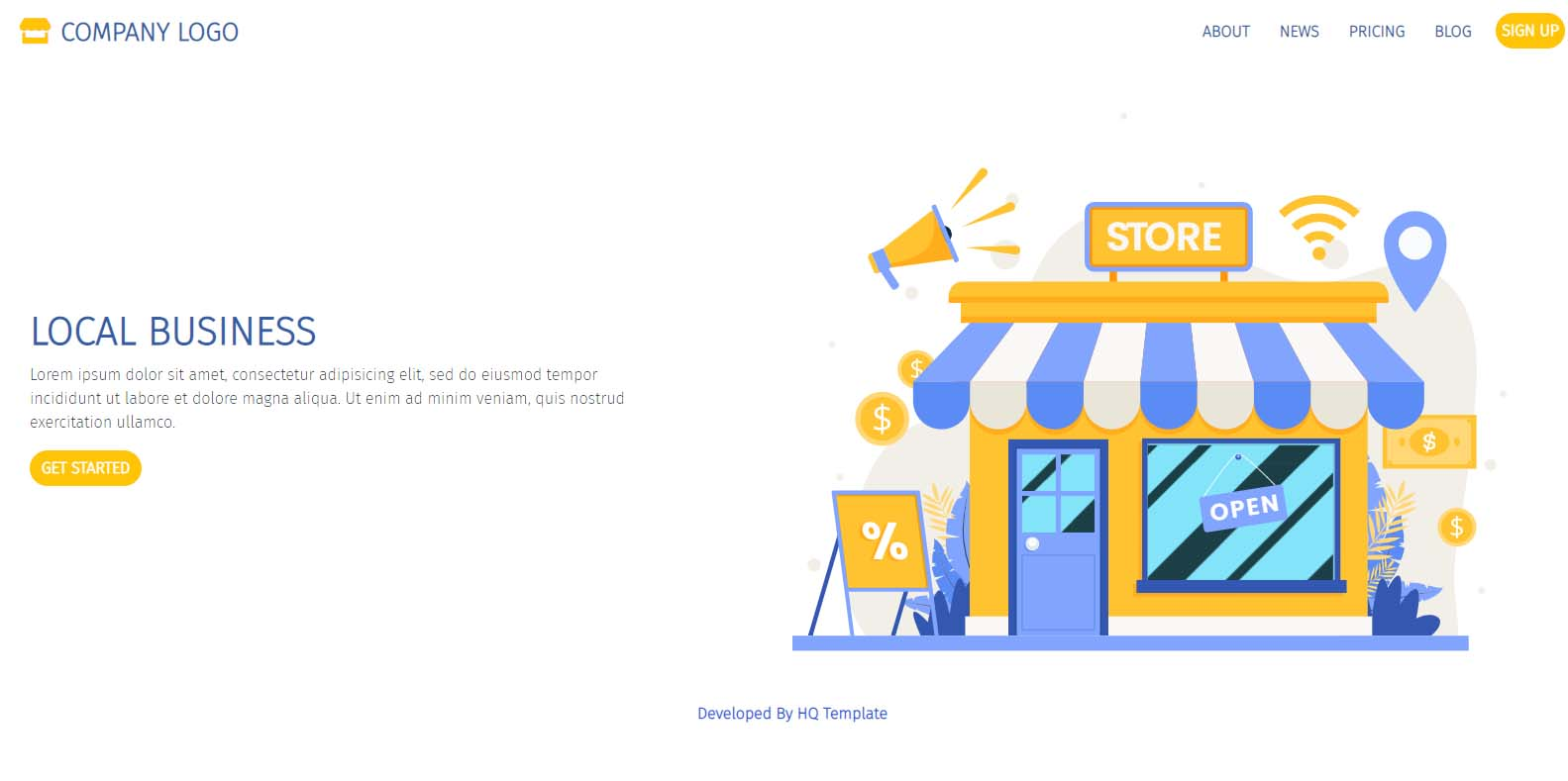 Bootstrap E-commerce landing page template