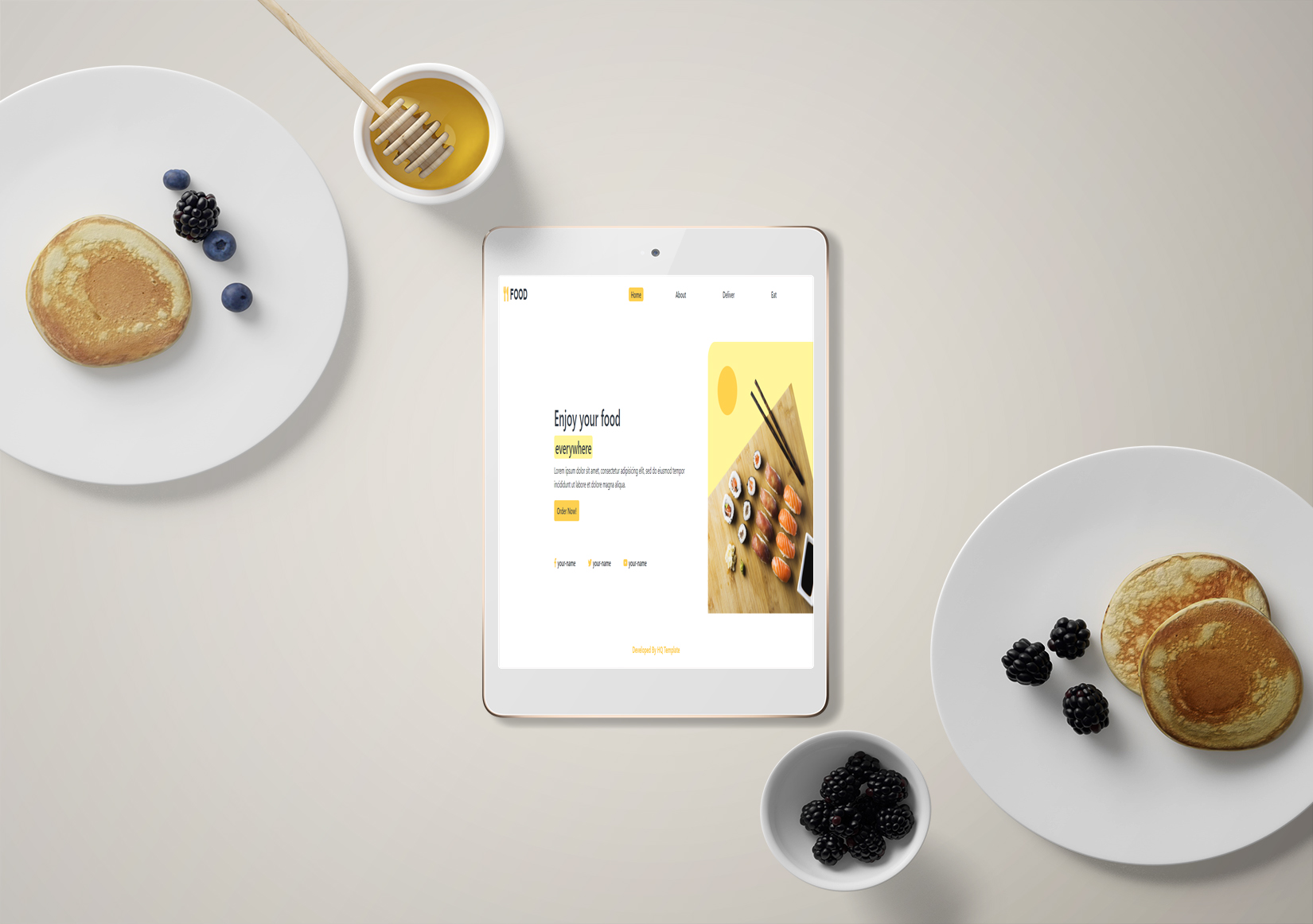 Bootstrap Food Landing Page
