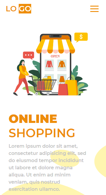 Bootstrap shopping Landing Page