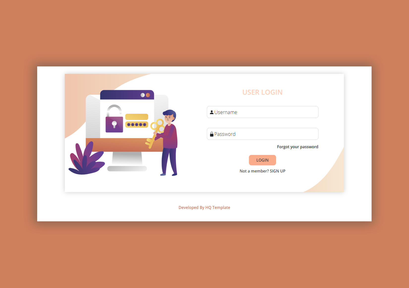 Bootstrap Login Page HTML template
